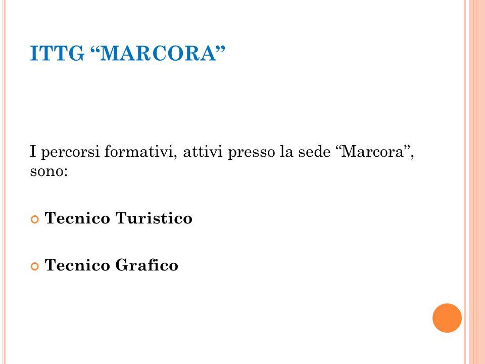 ITTG MARCORA I percorsi formativi, attivi presso la sede Marcora , sono: Tecnico Turistico Tecnico Grafico
