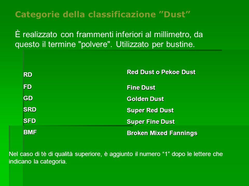 """Categorie della classificazione """"Dust"""" È realizzato con frammenti inferiori al millimetro, da questo il termine"""