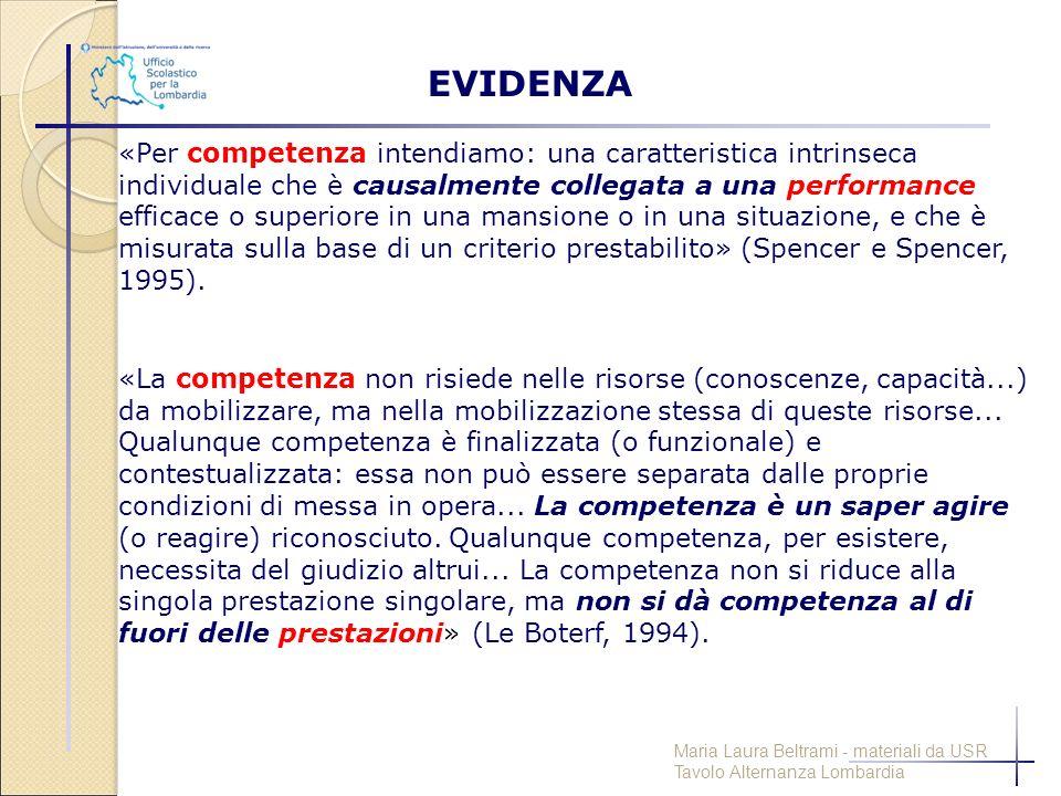 «Per competenza intendiamo: una caratteristica intrinseca individuale che è causalmente collegata a una performance efficace o superiore in una mansio
