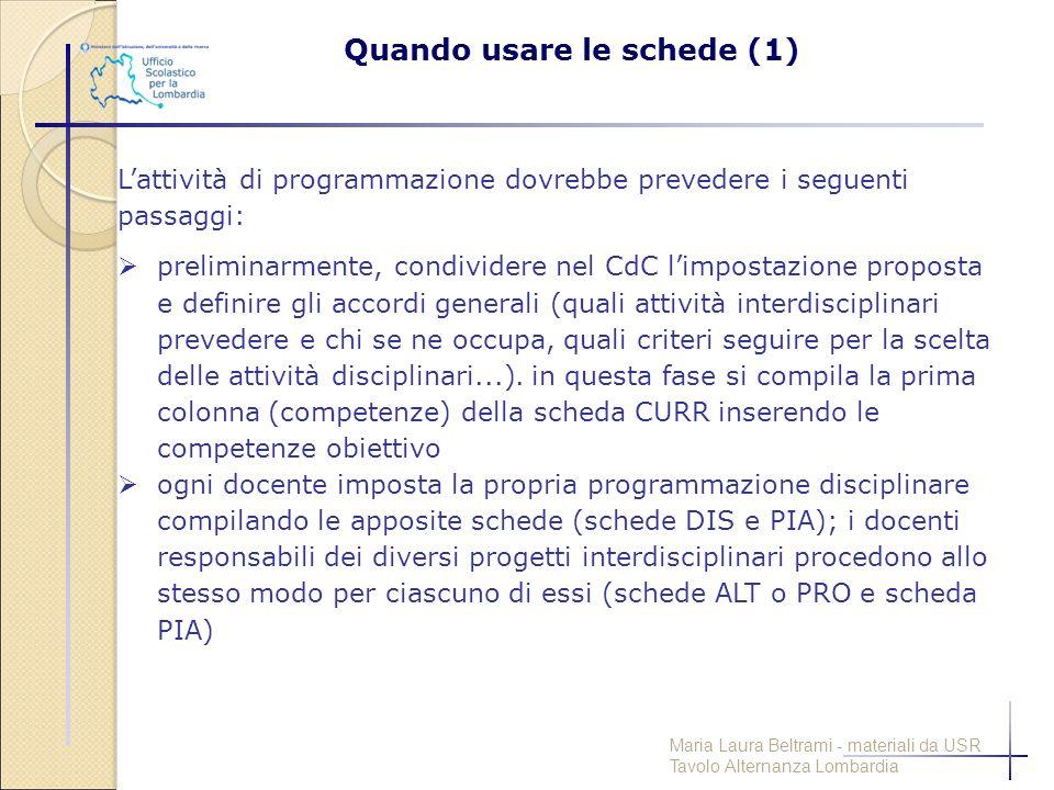 L'attività di programmazione dovrebbe prevedere i seguenti passaggi:  preliminarmente, condividere nel CdC l'impostazione proposta e definire gli acc