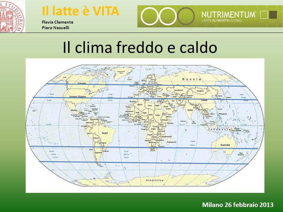 Il latte è VITA Flavia Clemente Piero Nasuelli Milano 26 febbraio 2013 Il clima freddo e caldo