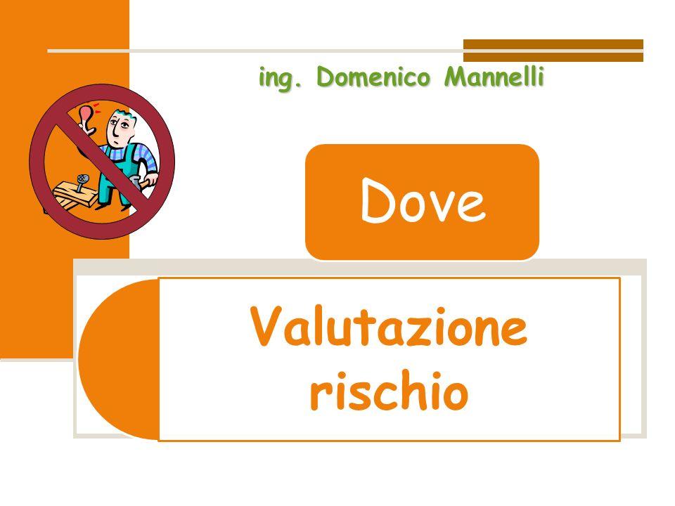 Valutazione rischio Dove ing. Domenico Mannelli