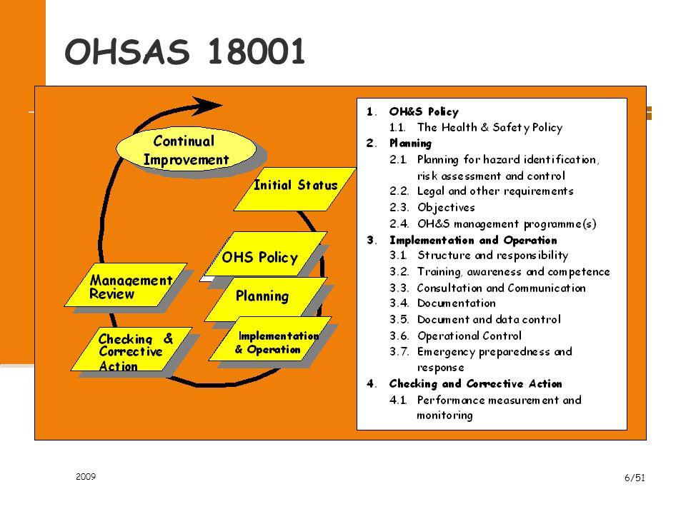 OHSAS 18001 2009 6/51