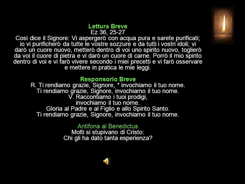 3^ Antifona Lodate il Signore: egli è grande, alleluia. SALMO 150 Ogni vivente dia lode al Signore A Dio la gloria, nella Chiesa e in Cristo Gesù (cfr