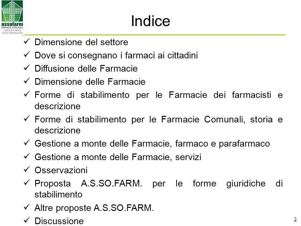 3 Dimensione del settore Ricetta rimborsabile 16,3 mdi€73,5% (di cui 2,9 (**) pari al 18% del 16,3 distribuiti da AUSL/Ospedali o in nome e per conto) Ricetta non rimborsata (A e C) 3,7 mdi€16,5% OTC/SOP 2,2 mdi€10% (di cui 80 milioni € (***) pari al 3,2% del 2,2 venduti negli ipermercati (2%) e nelle parafarmacie (1,2%)) (*) Dati dal rapporto nazionale anno 2006 – Osservatorio Nazionale sull'impiego dei medicinali ad eccezione dei farmaci erogati dalle strutture sanitarie (**) Stima interna su dati parziali di fonte che riportano 1,1 di distribuzione diretta 2006 e 0,15 (primi 7 mesi 2007) di distribuzione in nome e per conto (dati parziali), al costo di acquisto netto IVA (***) Dati a luglio 2007 22,2 mdi€ (*) 135 mdi€ (prezzo al pubblico) (prezzo al pubblico) FARMACI AI CITTADINI (escluso ricovero) SPESA SOCIO SANITARIA