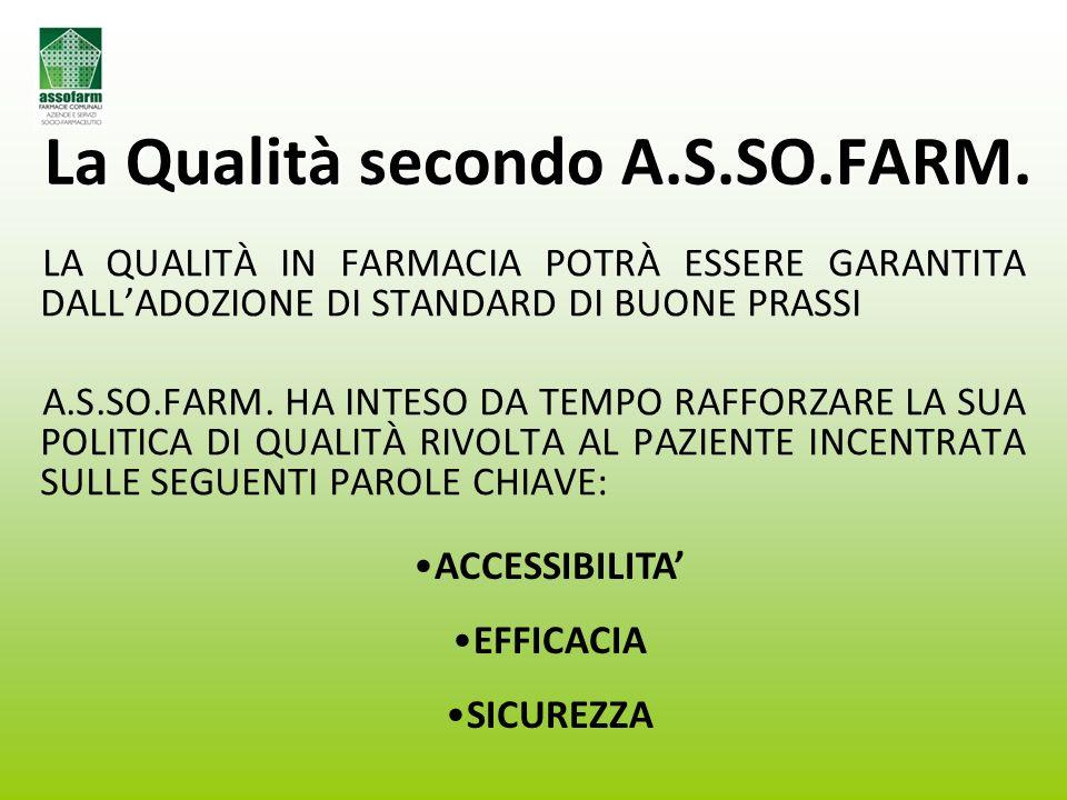 La Qualità secondo A.S.SO.FARM.