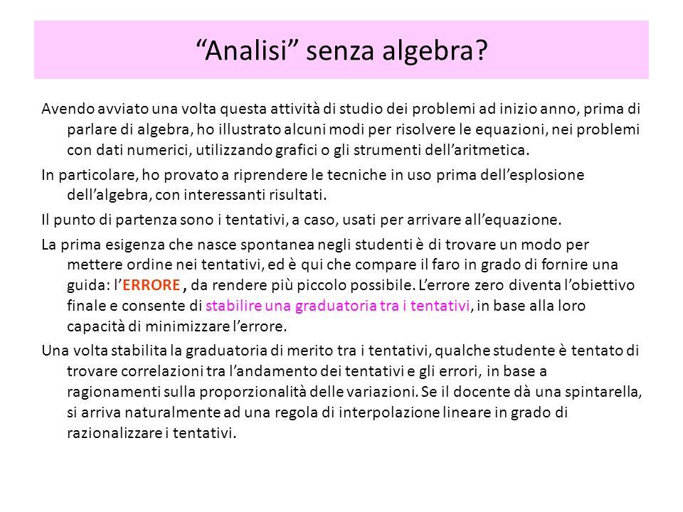 Avendo avviato una volta questa attività di studio dei problemi ad inizio anno, prima di parlare di algebra, ho illustrato alcuni modi per risolvere l