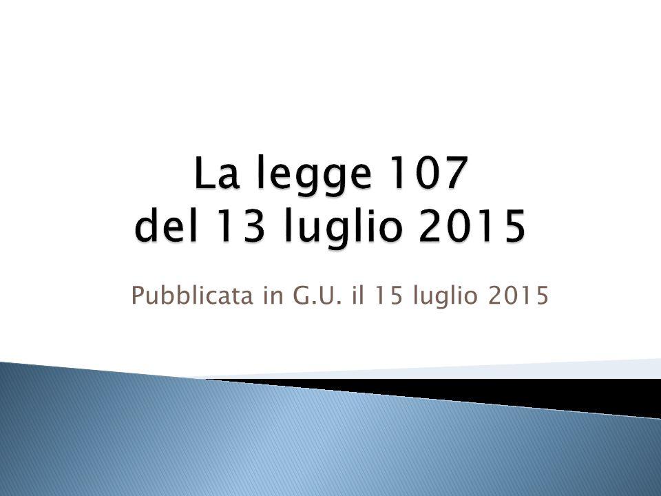 Pubblicata in G.U. il 15 luglio 2015