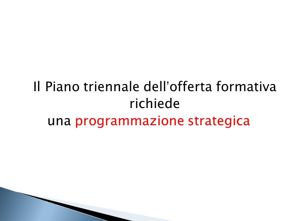 Il Piano triennale dell'offerta formativa richiede una programmazione strategica