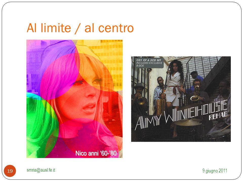 Al limite / al centro 9 giugno 2011 smria@ausl.fe.it 19 Nico anni '60-'80