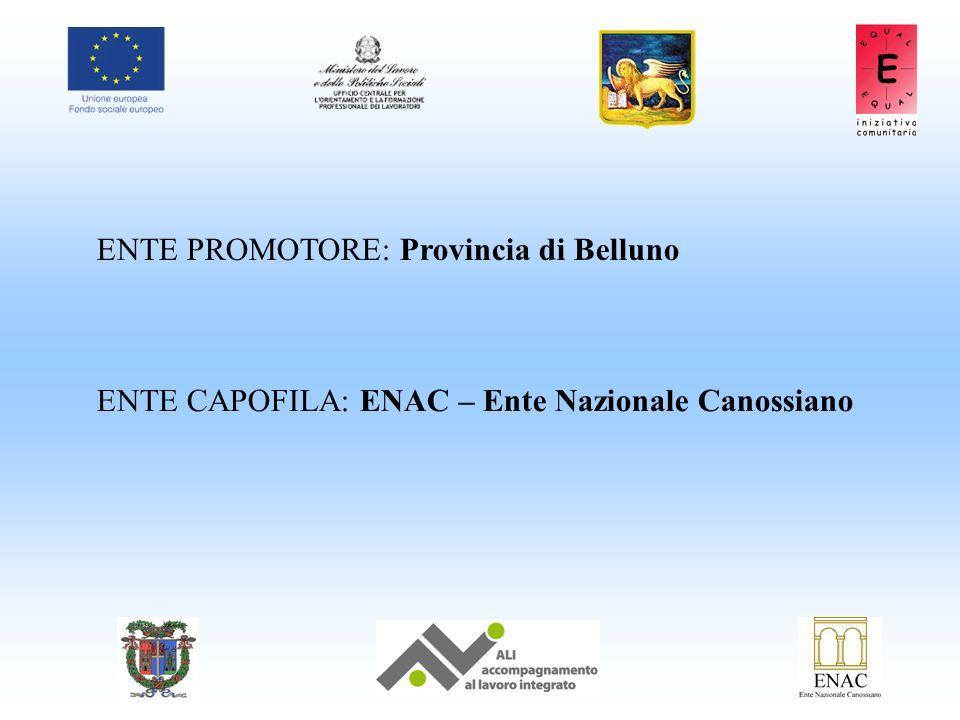 ENTE PROMOTORE: Provincia di Belluno ENTE CAPOFILA: ENAC – Ente Nazionale Canossiano