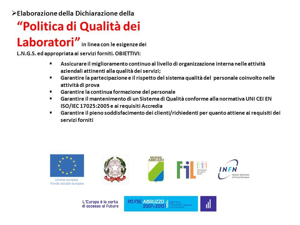  Assicurare il miglioramento continuo al livello di organizzazione interna nelle attività aziendali attinenti alla qualità dei servizi;  Garantire l