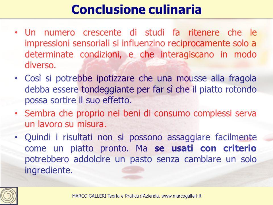 Conclusione culinaria 15 MARCO GALLERI Teoria e Pratica d'Azienda.