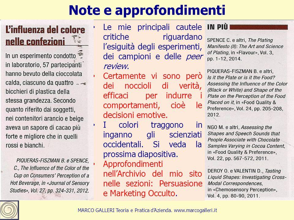 16 Note e approfondimenti MARCO GALLERI Teoria e Pratica d'Azienda.