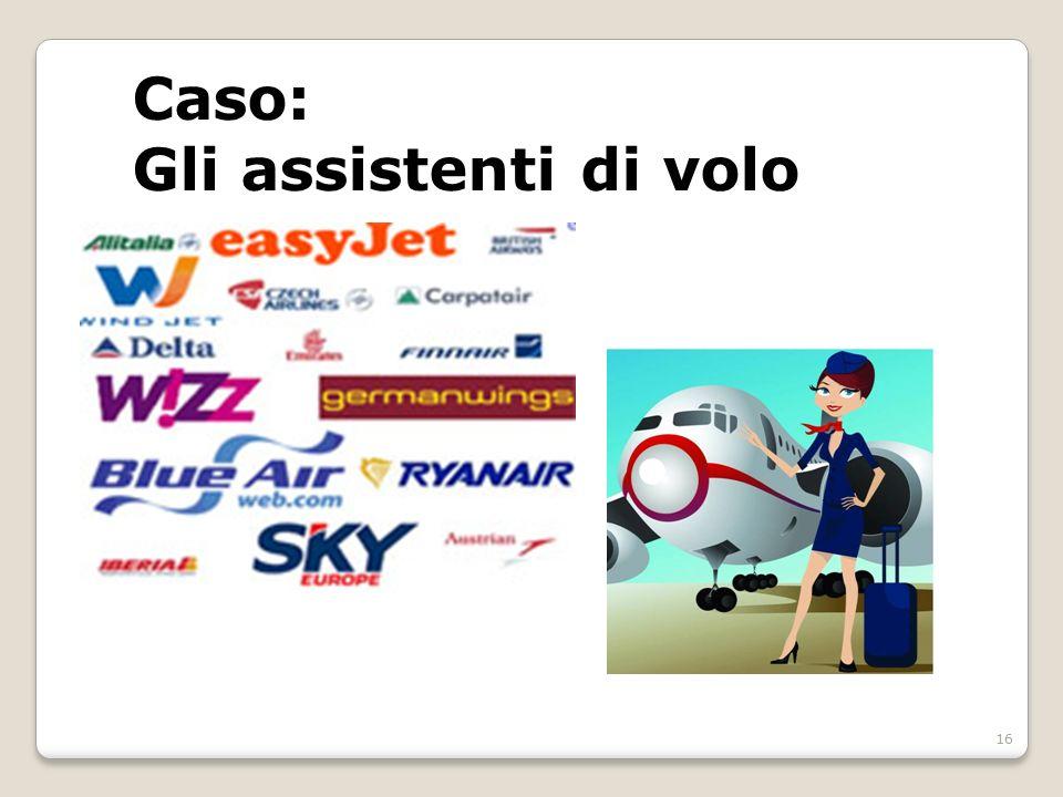 Caso: Gli assistenti di volo 16