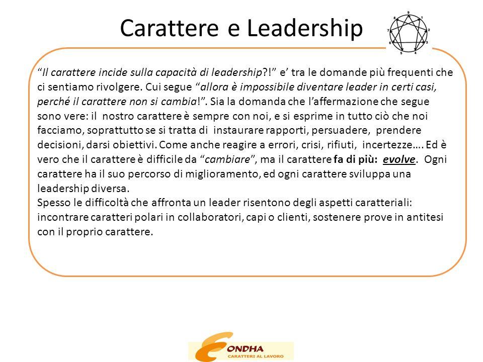 """Carattere e Leadership """"Il carattere incide sulla capacità di leadership?!"""" e' tra le domande più frequenti che ci sentiamo rivolgere. Cui segue """"allo"""