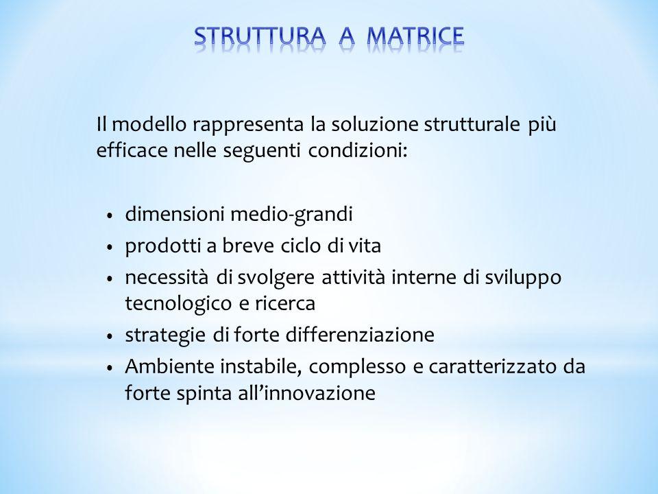 Il modello rappresenta la soluzione strutturale più efficace nelle seguenti condizioni: dimensioni medio-grandi prodotti a breve ciclo di vita necessi