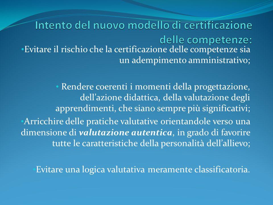 Quali COMPETENZE per il docente che progetta e certifica le competenze.