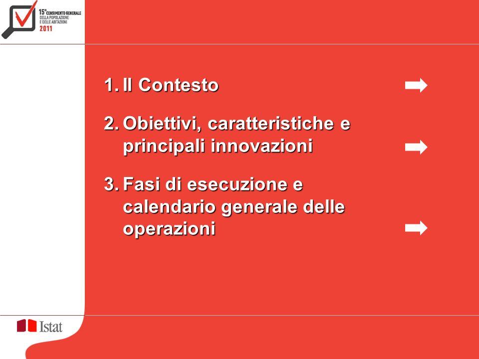 1.Il Contesto 2.Obiettivi, caratteristiche e principali innovazioni 3.Fasi di esecuzione e calendario generale delle operazioni