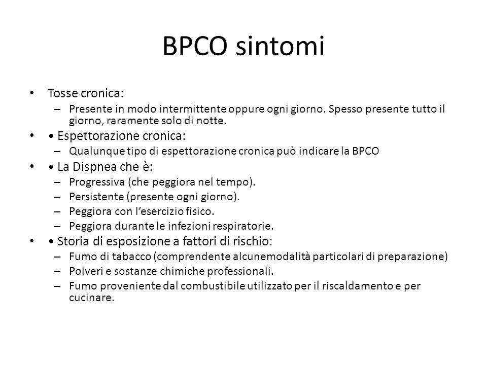 BPCO sintomi Tosse cronica: – Presente in modo intermittente oppure ogni giorno.