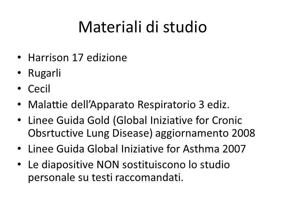 Materiali di studio Harrison 17 edizione Rugarli Cecil Malattie dell'Apparato Respiratorio 3 ediz.