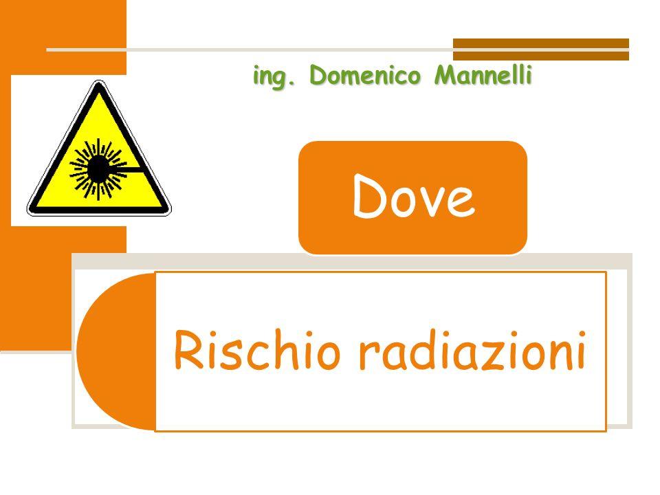 Rischio radiazioni Dove ing. Domenico Mannelli