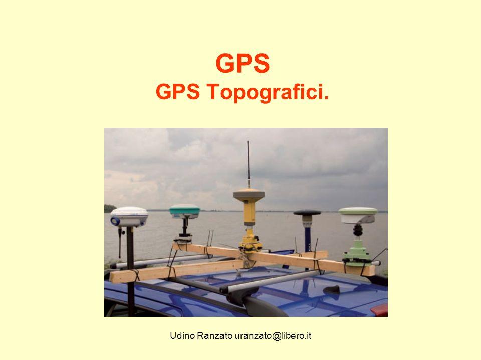 Udino Ranzato uranzato@libero.it GPS GPS Topografici.