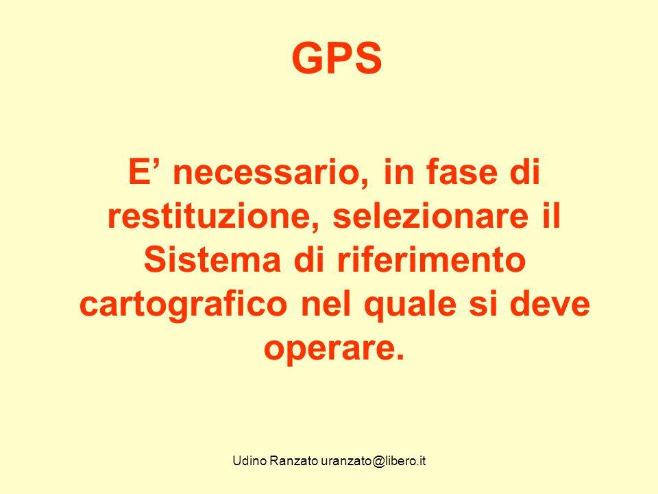Udino Ranzato uranzato@libero.it Il GPS è inutile quando ci si trova al chiuso o quando non si ricevono segnali da un numero minimo di satelliti.