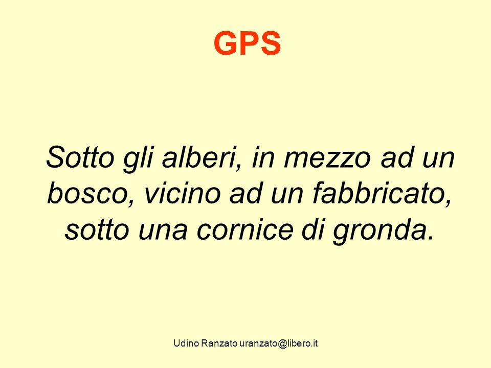 Udino Ranzato uranzato@libero.it Il questo caso bisogna utilizzare alcuni accorgimenti per poter rilevare i Punti inaccessibili da GPS.