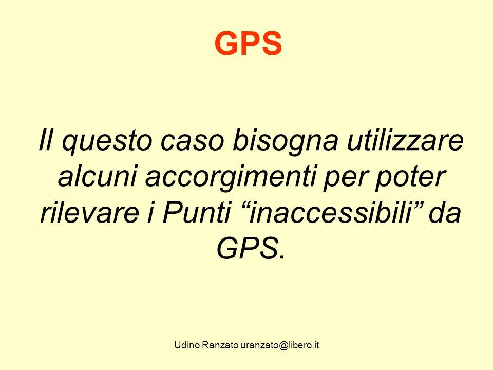 Udino Ranzato uranzato@libero.it Integrazione GPS con dettaglio Si considerino anche le potenzialità offerte da molti CAD o CAD Topografici e anche Pregeo.