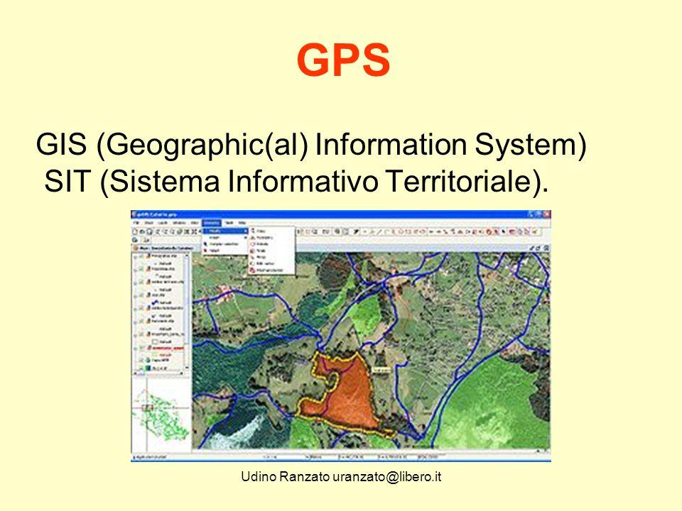Udino Ranzato uranzato@libero.it GIS - SIT La raccolta di dati associati alla posizione sul terreno è già una realtà da tempo affermata.