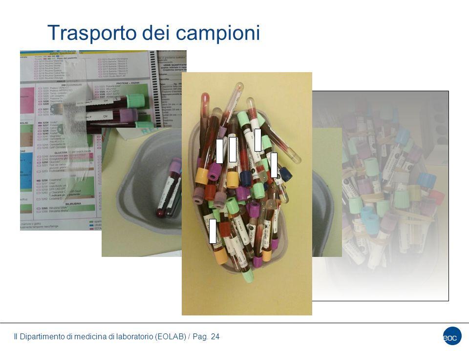 Il Dipartimento di medicina di laboratorio (EOLAB) / Pag. 24 Trasporto dei campioni