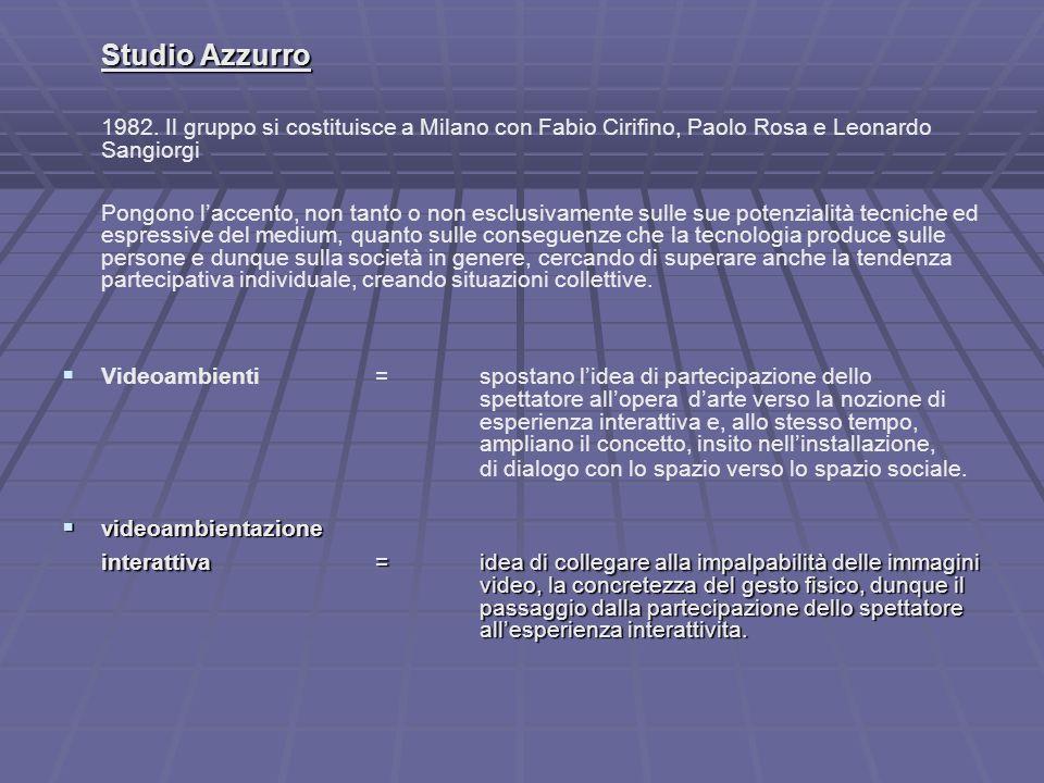 Studio Azzurro 1982.