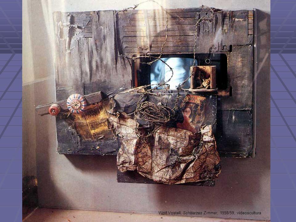 Wolf Vostell, Schwarzes Zimmer, 1958/59, videoscultura