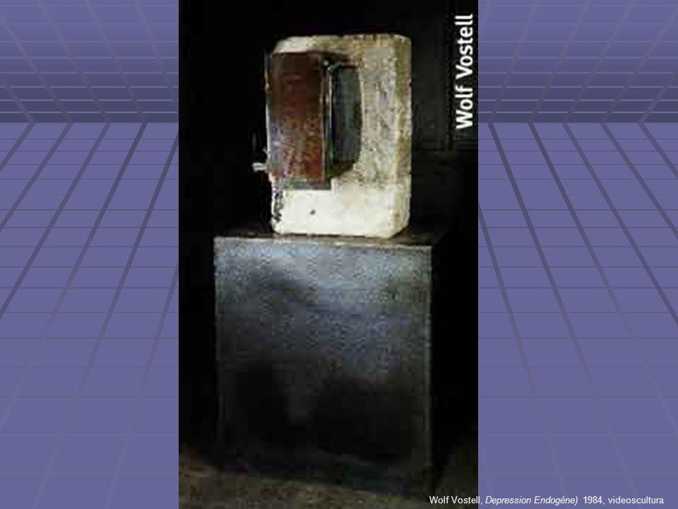 Wolf Vostell, Depression Endogène) 1984, videoscultura