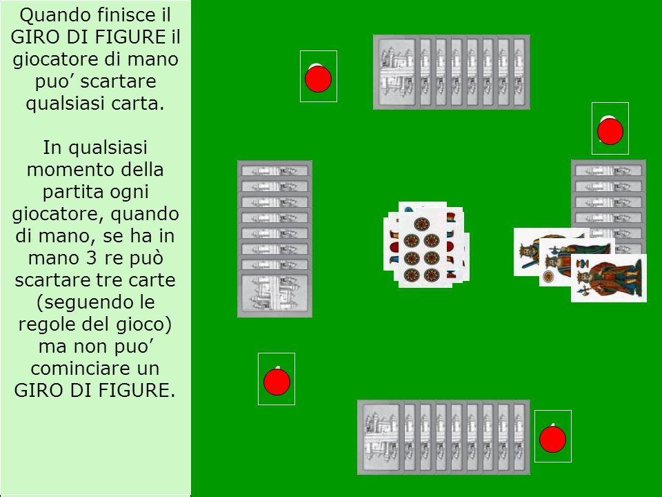 Quando finisce il GIRO DI FIGURE il giocatore di mano puo' scartare qualsiasi carta.