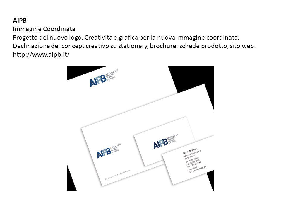 AIPB Immagine Coordinata Progetto del nuovo logo. Creatività e grafica per la nuova immagine coordinata. Declinazione del concept creativo su statione