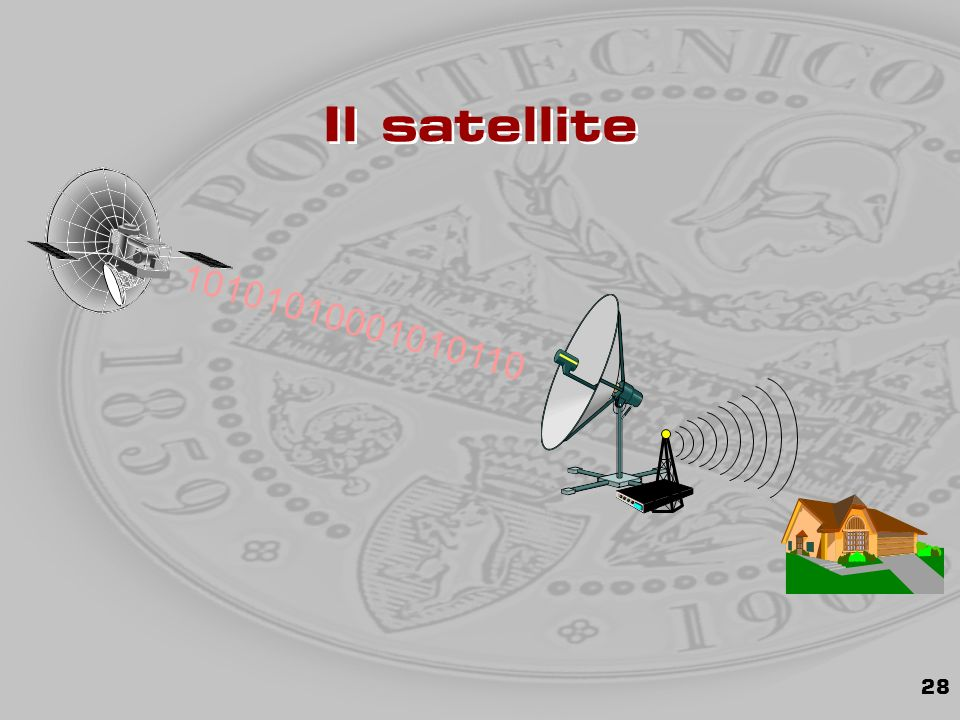 28 Il satellite 10101010001010110