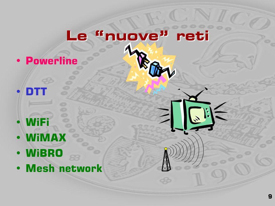9 Le nuove reti Powerline DTT WiFi WiMAX WiBRO Mesh network