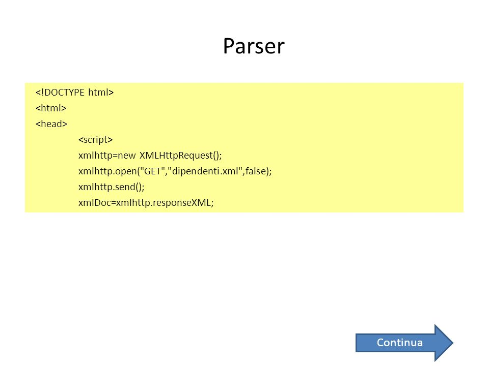 Parser xmlhttp=new XMLHttpRequest(); xmlhttp.open(