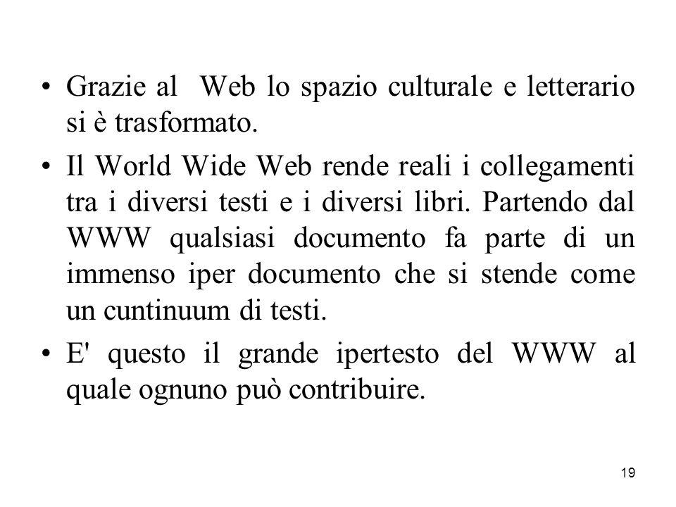 Grazie al Web lo spazio culturale e letterario si è trasformato.