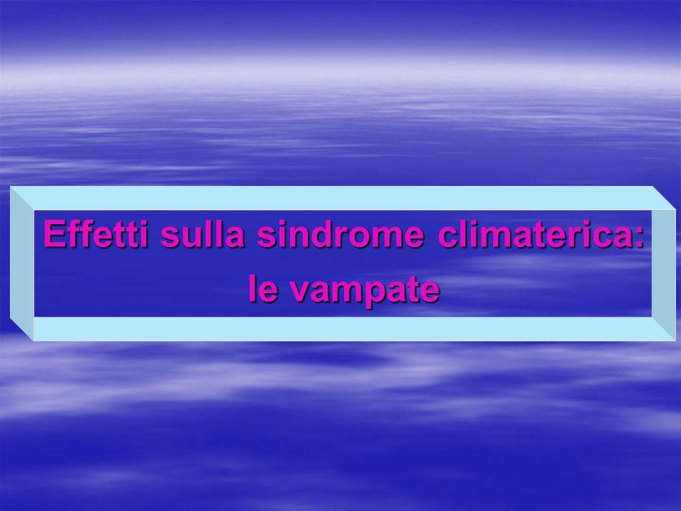 Effetti sulla sindrome climaterica: le vampate