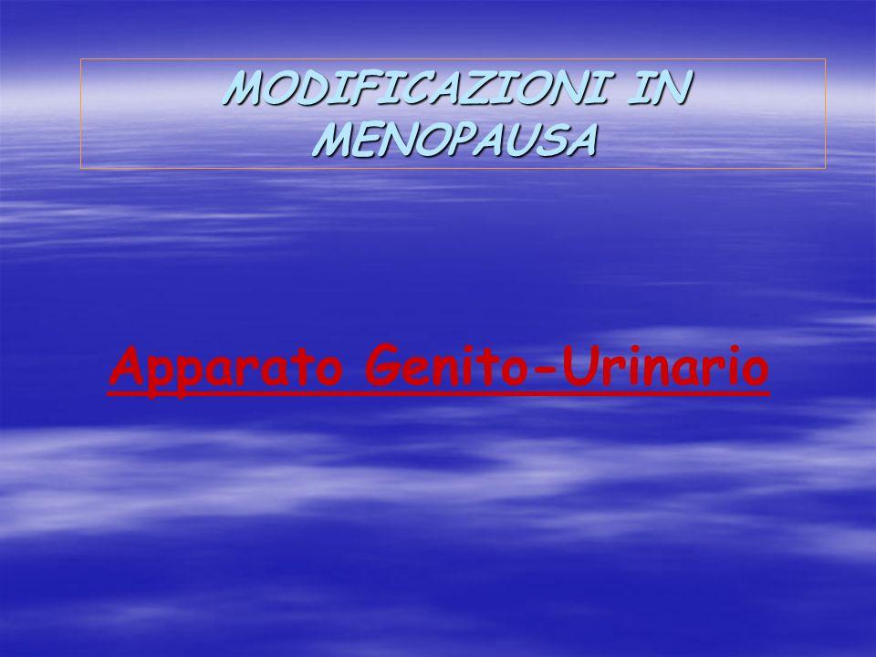 MODIFICAZIONI IN MENOPAUSA Apparato Genito-Urinario