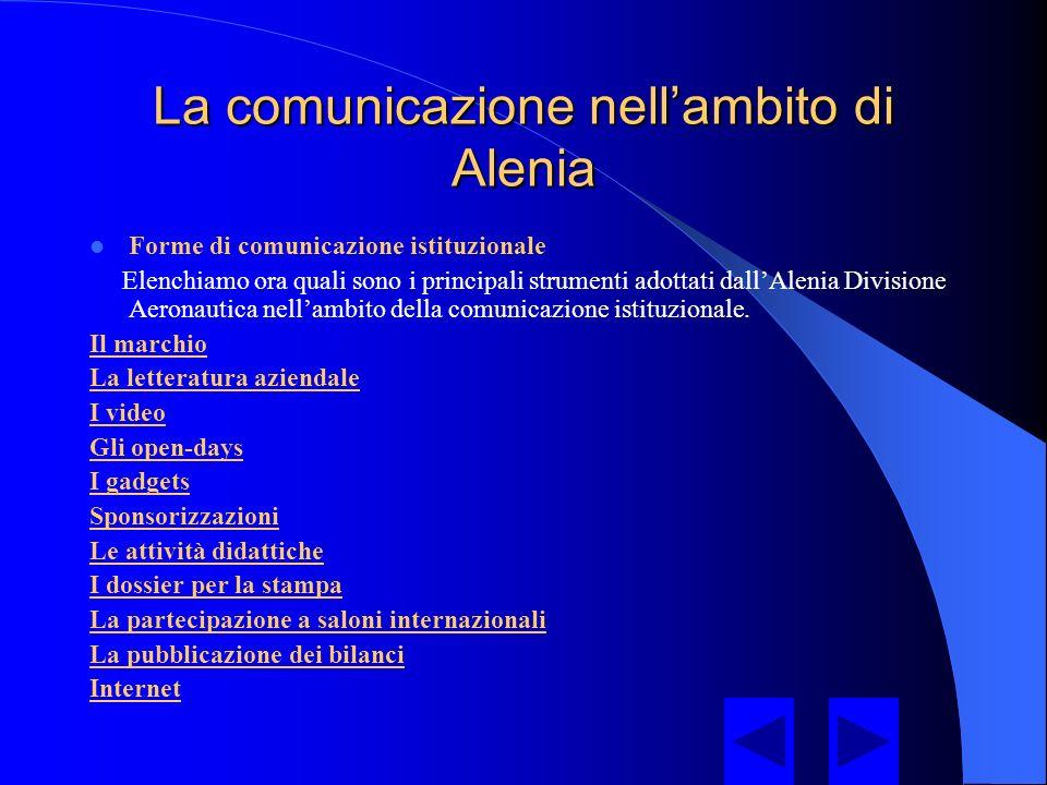 L'Alenia oggi La Divisione Aeronautica La Divisione Aeronautica, è attualmente impegnata nella progettazione, realizzazione, trasformazione, ed assistenza di una vasta gamma di velivoli e sistemi aeronautici sia militari che civili.