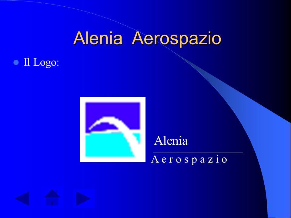Il marchio Alenia Il marchio Alenia è costruito da due parti: il Logo e il Lettering. - Il Logo è raffigurato da un quadrato in cui lo sfondo blu scur