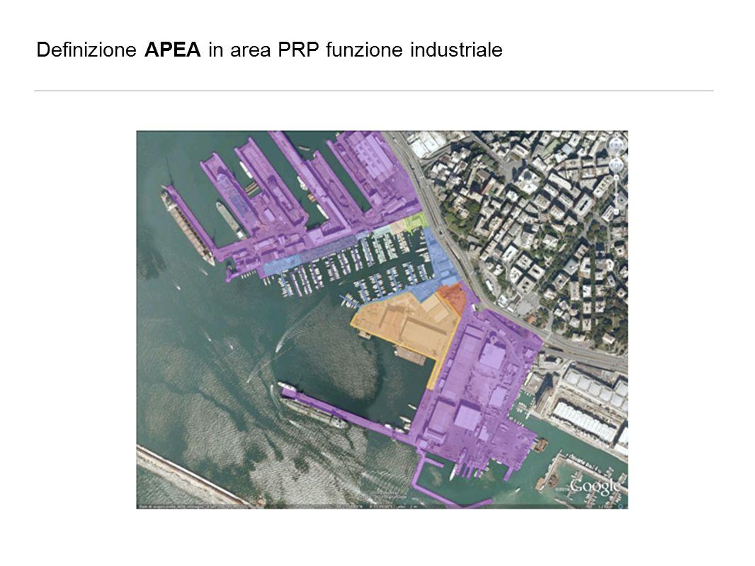 Definizione APEA in area PRP funzione industriale