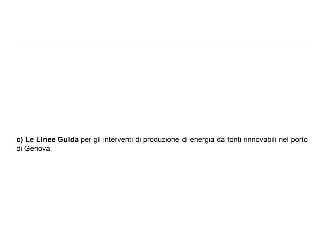 c) Le Linee Guida per gli interventi di produzione di energia da fonti rinnovabili nel porto di Genova.