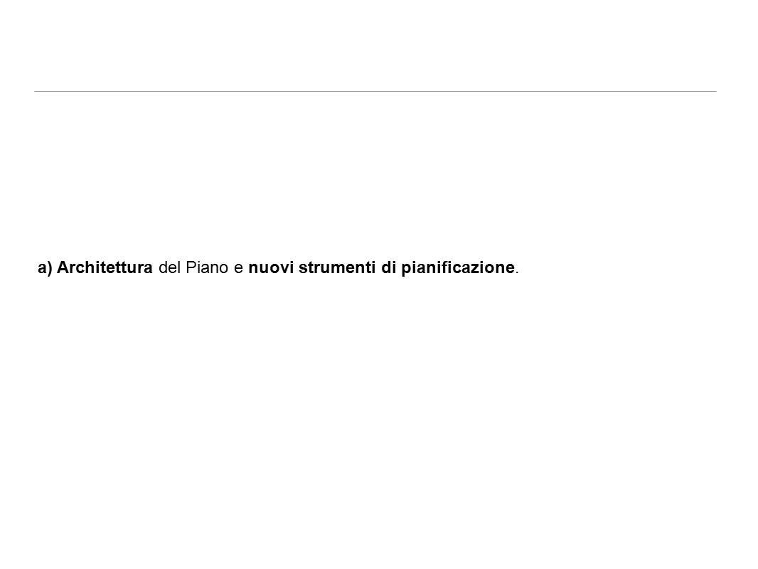 a) Architettura del Piano e nuovi strumenti di pianificazione.