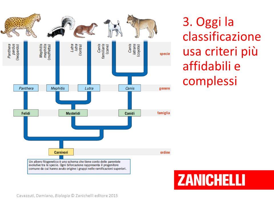 Cavazzuti, Damiano, Biologia © Zanichelli editore 2015 3. Oggi la classificazione usa criteri più affidabili e complessi