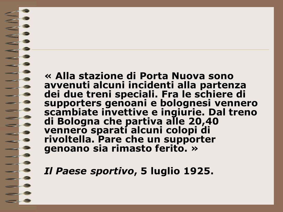 « Alla stazione di Porta Nuova sono avvenuti alcuni incidenti alla partenza dei due treni speciali.